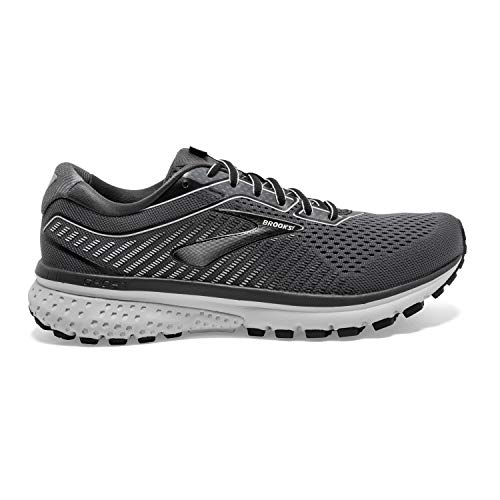Brooks Mens Ghost 12 Running Shoe - Black/Pearl/Oyster - 2E - 11.0 3