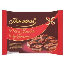 Thorntons Mini Brownie Fudge Ranking TOP10 Per Nippon regular agency Pack 8 Bites