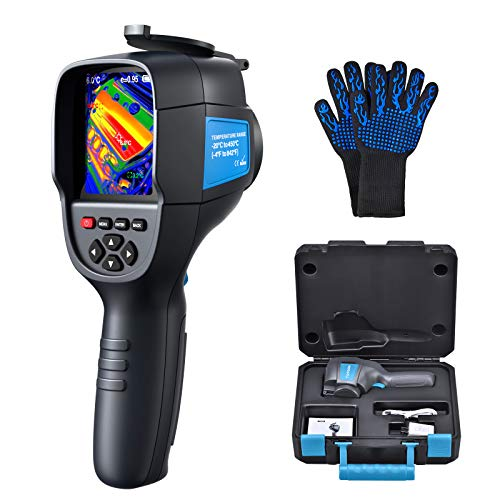 Thermal Imager, IR Camera 35200 Pixels Thermal Camera -4°F to 842°F Range, 220×160 Resolution IR Infrared Thermal Imaging Camera for Home Electricity Check - Heat-Resistant Gloves as Gift