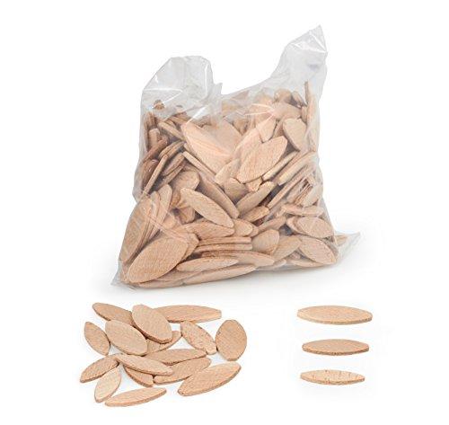 Tasselli legno WFix | 100 pezzi 0/10/20 | Lamelle in legno di faggio | Compatibile con lamellatrice e fresatrice per legno | Attrezzi fai da te