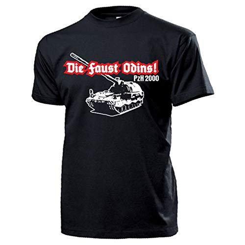 PzH 2000 Die Faust Odins Panzerhaubitze Bundeswehr Panzer - T Shirt #13336, Größe:L, Farbe:Schwarz