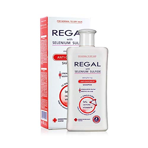 Selson Regal Stärkende Anti Schuppen Shampoo mit Selenium S und Koffein - 200 ml