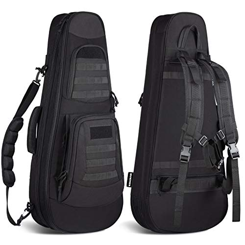 "HUNTSEN Tactical Rifle Bag Backpack 30"" Padded Gun Bag Soft Gun Case for Hunting Shooting and Training"