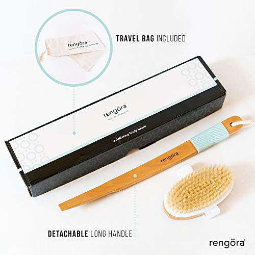 Body Brush - Exfoliating Brush for Dry Brushing Skin Care - for Massage, Dry Skin, Removing Dead Skin, Lymphatic Drainage, and Cellulite Treatment. Achieve Healthy Skin Today
