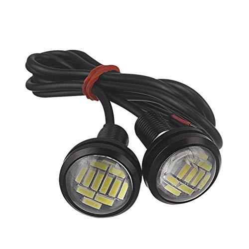 WOVELOT 2 Stück 12 V 23 mm kaltweiß Licht Switchback 4014 12 LED DRL Eagle Eye Tagfahrlicht