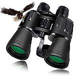 Jumelles 20x50, Jumelles Adultes puissante, Jumelles Compactes HD avec Lentilles BAK4 Prisme pour l'Observation des Oiseaux Chasse Randonnée Sport de Plein Air