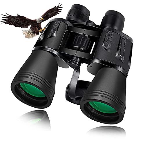 Binocolo Professionale 20×50, Binocolo Potente Compatto Notturna con Prisma BaK4 per Osservazione Uccelli, Escursionismo, Caccia, Concerti ed Eventi Sportivi