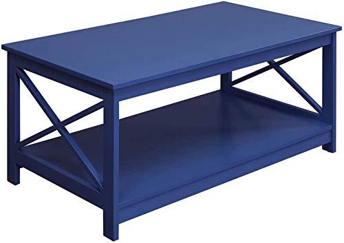 Convenience Concepts Oxford Coffee Table, Cobalt Blue