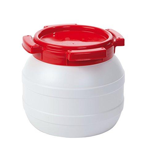 No Label Wasserfass ohne Etikett, weiß, 6,4 L