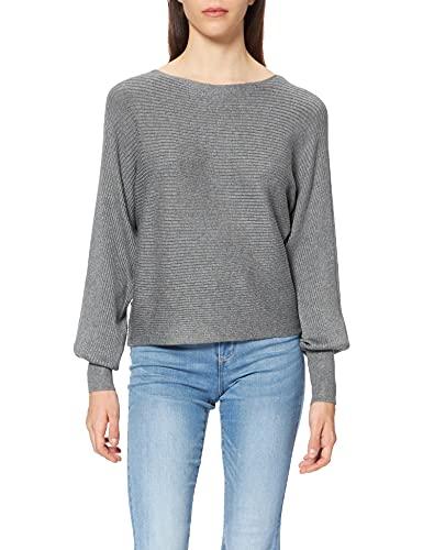 ONLY Damen ONLADALINE Life L/S Short PULLO KNT NOOS Pullover, Medium Grey Melange, XS