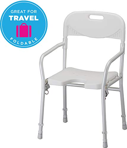 NOVA Medical Products Shower Chair, Foldable with Arms and Back