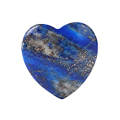 """Lapis Lazuli Heart Healing Crystal Size(approx):1.6""""(45x40x26mm);Weight:approx 2.0 ounces/piece Shape:Pocket Love Heart;Style:Polished,Smooth,Worry Stone,Pocket Stone,Palm Stone;October Birthstone;Romance Stone.Healing Crystal;Chakra:Heart Chakra Ple..."""