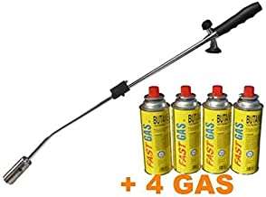 Top of the Range WEED BURNER + 4 Cannisters of Butane