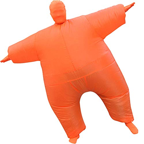 Inflatable Masquerade Costume Full body suit Air Blow up Costumes Fancy Dress Ball Party Christmas Carry Funny Cosplay Halloween Carnival Jumpsuit Suit Outfit (orange)