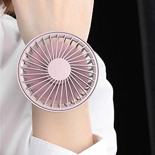RongWang 2021Nuevo Ventilador de Reloj de refrigeración Recargable USB Ventilador Personal Perezoso Ventilador Deportivo portátil de 3 velocidades (Color : B)