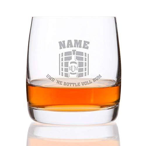 Privatglas Rum Glas mit persönlicher Namensgravur für den gemütlichen Männerabend Rum Fass