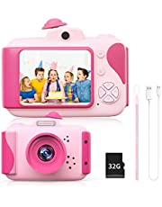 Kids Digital Camera Toys, Toddler Gifts for 3-12 Years Old Girl with high Resolution 1080P Video 20M Picture IPS Color Screen Camcorder