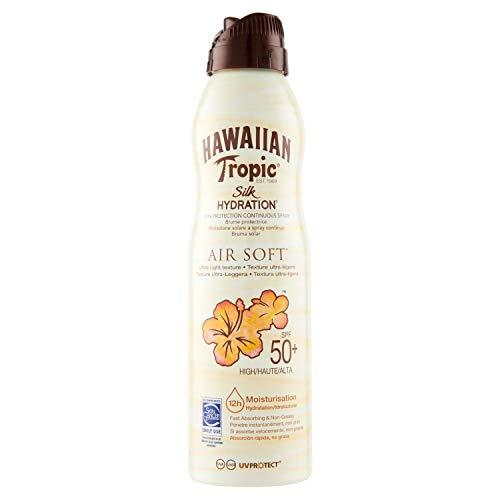 Hawaiian Tropic Bruma Silk Hydration Air Soft SPF 50 - Loción Solar Protectora en Spray de...