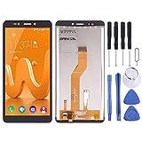 PUJUFANG-PHONE SPARE PARTS Piezas de Repuesto Compatible con Wiko Jerry Pantalla LCD de 3 y un digitalizador Asamblea Completa (Color : Negro)