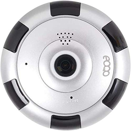 Cámara de Vigilancia IP HD WiFi IR Vision Nocturna Com con Micrófono y Altavoz Detección de Movimiento Sonido Alarma Inalámbrico para Puerta Compatible con iOS y Android(Plata)
