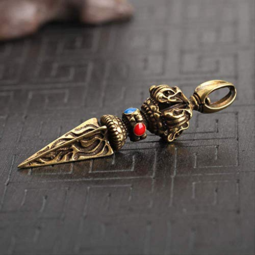 ZWWZ Beads de Esmalte de Cobre Vajry Pestello Adornos Vintage Latón Llavero Llavero Colgante Buda...