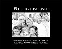 Infusion Gifts Retirement, Small Engraved Photo Frame, Black [並行輸入品]