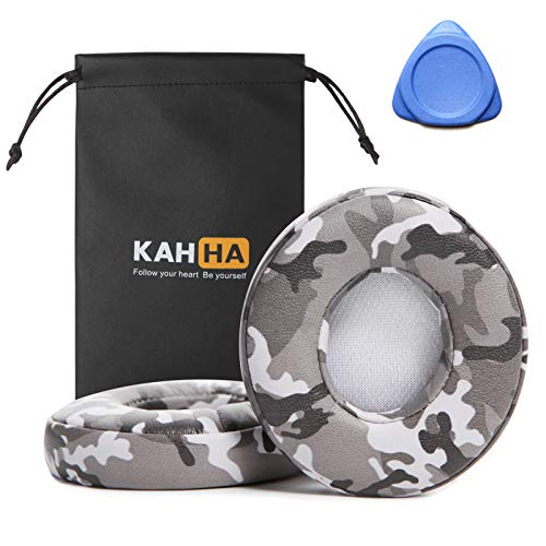 Ear Pads,Replacement earpads Compatible with Beats Solo 2 & 3 Wireless Headphones Ear Cushions with Noise Isolation Memory Foam/ECO Protein Leather/Strong Adhesive Tape(Camo GreyII)