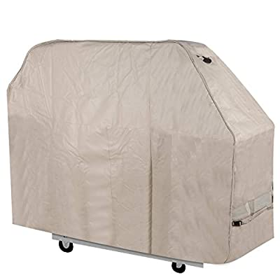 """Stanbroil Waterproof Heavy Duty BBQ Grill Cover, Fits Barbecue Grills 72"""" Long x 26"""" deep x 51"""" high, XX-Large, Beige"""