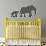 Wandtattoo Elefant mit Baby-Elefant