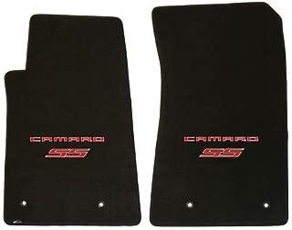 Lloyd Mats ® - Classic Loop Ebony Front Floor Mats For Chevrolet Camaro 2010-15 with Red Camaro SS Script Logo