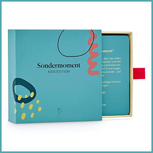 Sondermoment Kids Edition – El juego de preguntas para niños, padres y la familia | Un juego familiar para la atención y el aprendizaje | perfecto para mamá, papá, abuela, abuelo y los niños