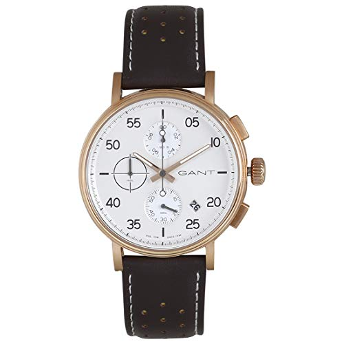 Gant Reloj Analógico para Hombre de Cuarzo con Correa en Cuero 7630043903322