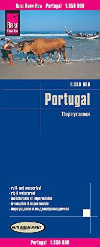 Portugal, mapa de carreteras impermeable. Escala 1:350.000. Reise Know-How.: Kartenbild 2seitig, klassifiziertes Straßennetz, Ortsindex, GPS-tauglich