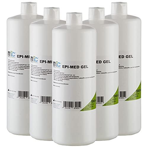 5 x 1 Liter Epi-Med Kontaktgel IPL-Gel für IPL Behandlung IPL-Kontaktgel