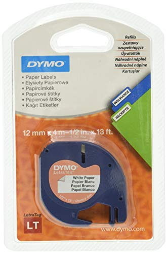 DYMO 12mm LetraTAG Paper tape - Blase - 29 mm - 96 mm (S0721500)