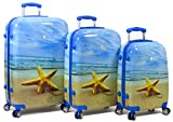 Rolite Lightweight Hard shell Spinner Luggage Set - Star Fish