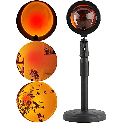 Sunset Lamp Xpassion Sonnenuntergang Projektion Lampe 180°Drehung LED Projektor Licht Nachtlicht Romantische Visuelle Stimmungslampe Beleuchtung Schlafzimmer Deko
