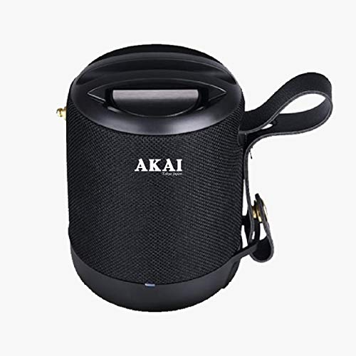 Akai Humdrum HD055 Wireless Bluetooth Portable Speaker, TWS, 5W High Bass, Passive Diaphragm,IPX5 Water Resistant, 6-10 Hrs Playback, Aux,TF,USB & FM Playback