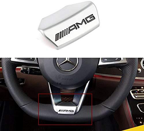Duoles AMG Steering Wheel Emblem Decal Sticker Badge Decoration Logo for Mercedes-Benz 16 Models 17 Models New E Class Sedan