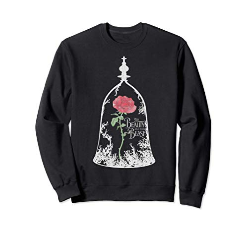 Disney Beauty And The Beast Rose In Glass Sudadera