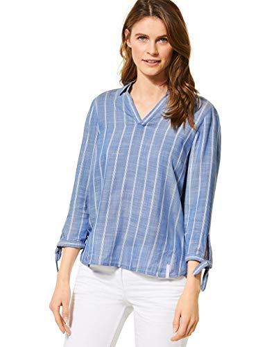 Cecil Damen 341990 TOS Stripe Bluse, Blouse Blue, Large
