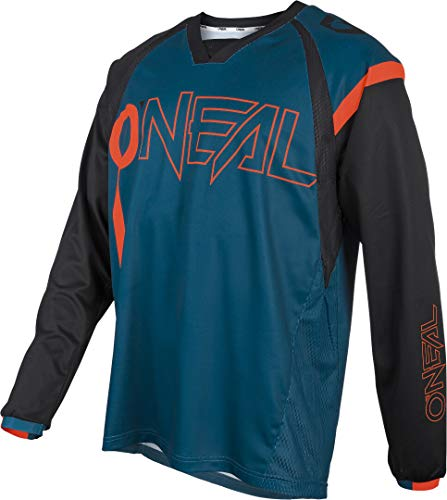 O'NEAL   Mountainbike-Trikot   MTB Mountainbike DH Downhill FR Freeride   Atmungsaktives Material, maximale Bewegungsfreiheit   Element FR Jersey Hybrid   Erwachsene   Petrol Orange   Größe S