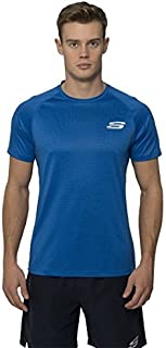 Skechers Mens Quick Dry Sports T-Shirt Short Sleeved Top Tee Active Wear