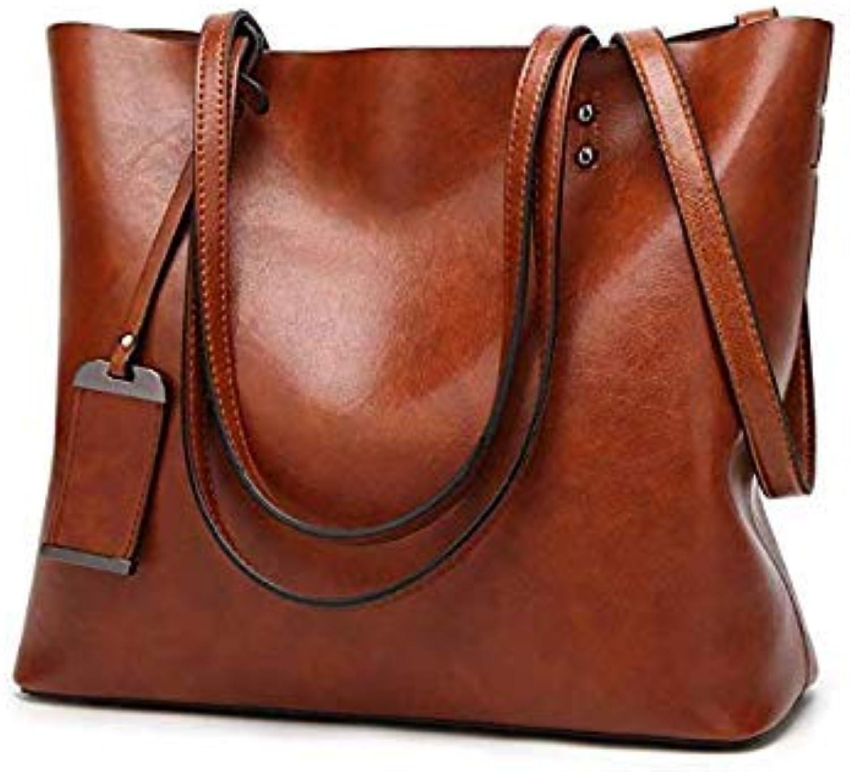 Bloomerang MAGICYZ Big Casual Tote Oblique Crossbody Shoulder Bag Soft Leather Handbag Versatile sacoche Femme Branded Ladies Hand Bags color Dark Khaki 32cmX12cmX29cm