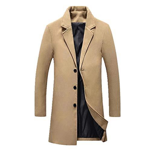 Hombres Chaqueta Larga Otono Caliente Casual Slim Fit Business Coat Chaqueta Parker Hombres