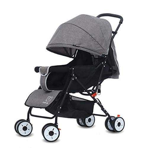 Dapang Four Wheel Pushchair with One Hand Fold, Small Foldable, Buggy with...