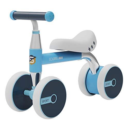 HQYXGS 1-3 años de antigüedad Scooter Gratis, niños Cuatro Scooters de Equilibrio Redondo, peatonal para bebés, adecuados para bebés, Mejores cumpleaños,Azul