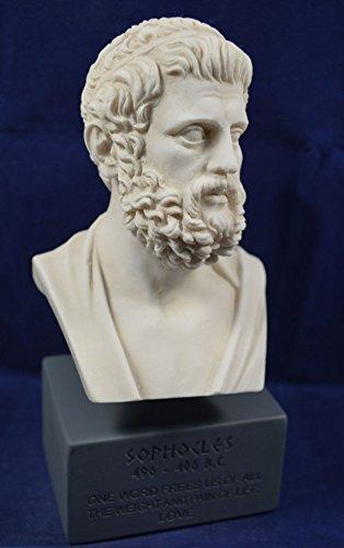 Estia Creations Sophocles Sculpture Busto de reproducción del museo filósofo griego antiguo