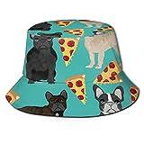 GMGMJ Sombrero de pizza francés para cubo unisex para actividades al aire libre, protección del sol, sombrero de pescador, material cómodo, tapas de camping para uso casual