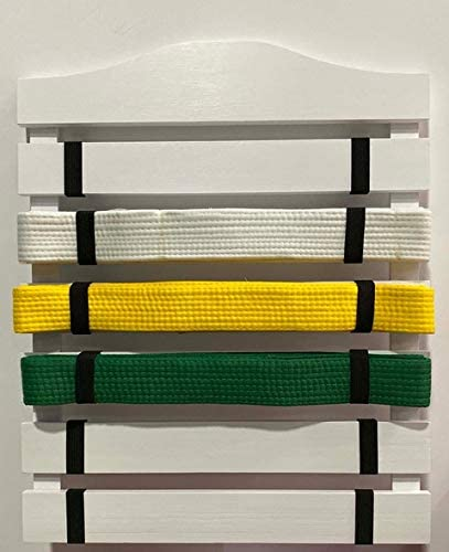 popular SkyMall wholesale Solid Wood Martial high quality Arts Belt Display Rack - White online